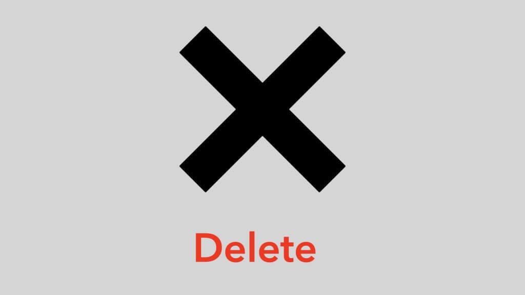 delete 删除
